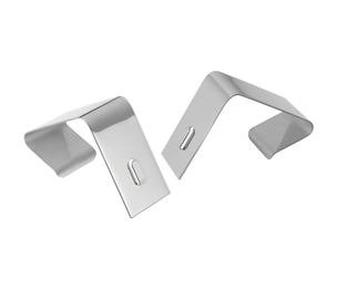 """Tops Products 7501 Partition Hangers,Adjusts1-1/2""""-2-1/2"""",2/ST,Nickel Plated by Quartet"""