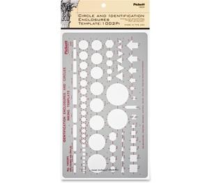 "Chartpak, Inc 1002PI General Purpose Template, Enclosures, 10""x5-7/8"" , Soft Grey by Chartpak"