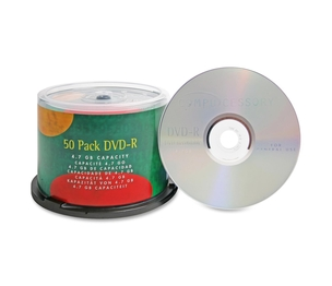 Compucessory 35557 DVD-R, 4.7GB, 16X, Branded, 50/PK by Compucessory