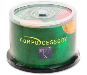 Compucessory 72250 CD-R, 52x, 700MB/80Min, Branded, 50/PK by Compucessory