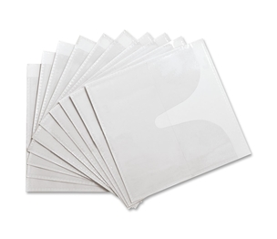Compucessory 22294 Self-Adhesive CD Holders,Polypropylene,10/PK,White by Compucessory
