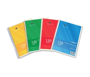 """Sparco Products 83254 Notebooks,3 Subject,10-1/2""""x8"""",College Ruled,120 Sht,AST by Sparco"""