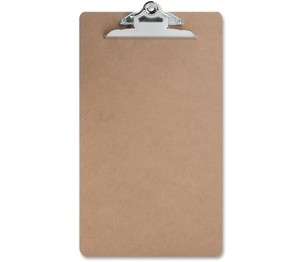 """Sparco Products 00896 Hardboard Clipboard, Nickel-Plated Clip, 9""""x15-1/2"""", Brown by Sparco"""