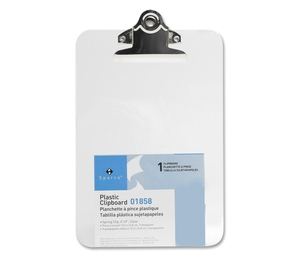 """Sparco Products 01858 Transparent Plastic Clipboard, Printed Ruler, 6""""x9"""", Clear by Sparco"""
