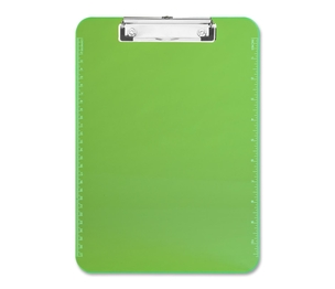 """Sparco Products 01867 Plastic Clipboard,w/ Flat Clip,9""""x12"""",Neon Green by Sparco"""