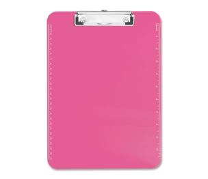 """Sparco Products 01868 Plastic Clipboard,w/ Flat Clip,9""""x12"""",Neon Pink by Sparco"""