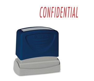 "Sparco Products 60021 CONFIDENTIAL Title Stamp, 1-3/4""x5/8"", Red Ink by Sparco"