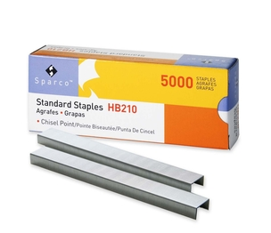 """Sparco Products HB210 210 Per Strip - 0.25"""" Leg - 0.5"""" Crown - Chisel Point - 5000 / Box by Sparco"""