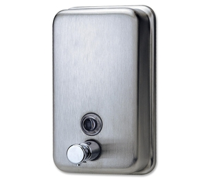 Genuine Joe 02201 Soap Dispenser, Holds 31.5oz., Stainless Steel by Genuine Joe