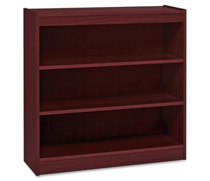 "Lorell Furniture 60071 3 Shelf Panel Bookcase, 36""Wx12""Dx36""H, Mahogany by Lorell"