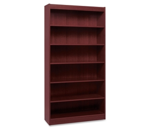 "Lorell Furniture 60074 6 Shelf Panel Bookcase, 36""Wx12""Dx72""H, Mahogany by Lorell"