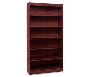 """Compucessory 60075 7 Shelf Panel Bookcase, 36""""Wx12""""Dx84""""H, Mahogany by Lorell"""