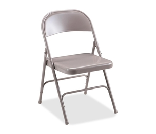 "Lorell Furniture 62500 Folding Chairs,Steel Seat,19-3/8""x18-1/4""x29-5/8"",4/CT,BG by Lorell"
