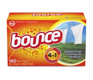 Bounce Dryer Sheets, 160 Sheets/BX, Outdoor Fresh by P&G