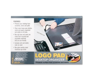 "Artistic Products, LLC 41200 Desk Pad w/Cover Sheet, 20""x31"", Black by Artistic"