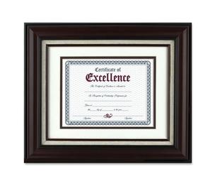 "Burnes Home Accents N15907B Wall Frame, w/Certificate, 11""x14"", Mahogany by Burnes"