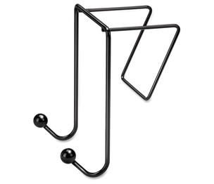 """Fellowes, Inc 75510 Double Coat Hook, for Partitions, Wire, 4""""x5-1/8""""x6"""", Black by Fellowes"""