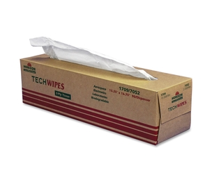 "National Industries For the Blind 7920009651709 Tech Wipes,3-Ply, Dispenser,15-1/4""x16-1/2"",1350/BX, White by SKILCRAFT"