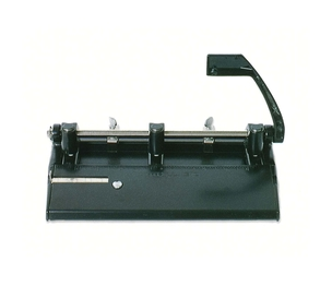 """National Industries For the Blind 7520-01-431-6251 Adjustable 3-Hole Punch, Heavy-Duty, 13/32"""" Hole, Black by SKILCRAFT"""