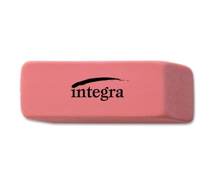 "Integra 36522 Pencil Eraser, Beveled End, Medium, 4/5""x2""x2/5"", Pink by Integra"