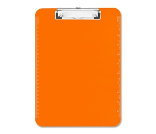 """Sparco Products 01866 Plastic Clipboard,w/ Flat Clip,9""""x12"""",Neon Orange by Sparco"""