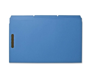 Sparco Products SP17219 Fastener Folders,w/ 2-Ply Tab,1/3 Ast Tab,50/BX,Lgl,Blue by Sparco