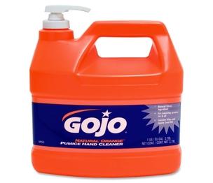Gojo Industries, Inc 095504CT Hand Cleaner,Orange Pumice,w/Baby Oil,1 Gal,4/CT,Citrus by Gojo