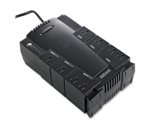 Compucessory 25652 UPS Backup System w/ AVR,8 Outlets,685VA,390W,6' Cord,Black by Compucessory
