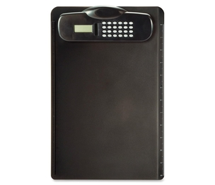 "OFFICEMATE INTERNATIONAL CORP. 83336 Plastic Clipboard,w/Calc,Built-In Rlr,9""x13-3/4""x1-1/4"",BK by OIC"