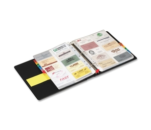 "Tops Products 65320 Card File Binder,Holds 400 Cards,1-1/2"" Capacity,Letter,BK by Cardinal"