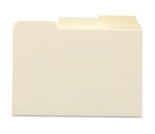"""PM Company, LLC 55030 Card Guides, Blank, 1/3 Cut, 18 Point, 3""""x5"""", Manila by Smead"""