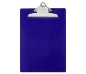 "Saunders Mfg. Co. Inc 21602 Antibacterial Clipboard,w/ Hanging Hole,1"" Cap.,9""x12"",Blue by Saunders"