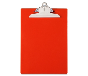 """Kimberly-Clark Corporation 21601 Antibacterial Clipboard,w/ Hanging Hole,1"""" Cap.,9""""x12"""",Red by Saunders"""