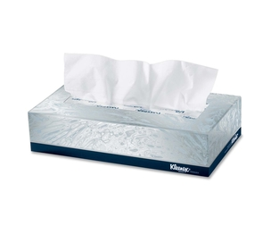 "Kimberly-Clark Corporation 21606BX Facial Tissue, 8-2/5""x8-3/5"", 125/BX, White by Kleenex"