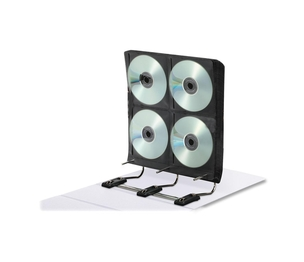 IdeaStream Consumer Products, LLC FT07016 Gapless Media Binder,for DVD/CDs,34 Pages,Holds 272,White by IdeaStream