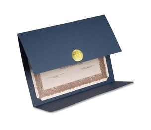 """First Base, Inc 83534 Certificate Holder,Double-fold,12-1/2""""x9-1/4"""",5/PK,Linen NY by St. James"""