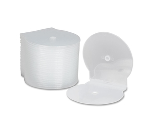 National Industries For the Blind 7045-01-554-7681 CD/DVD Cases, Clamshell, Plastic, 25/PK, Clear by SKILCRAFT