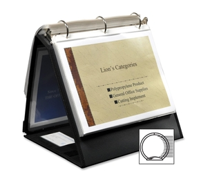"""Lion Office Products, Inc 40009BK Ring Binder Easel, 1-1/2"""" Cap, Horizontal, 11""""x8-1/2"""", Black by Lion"""