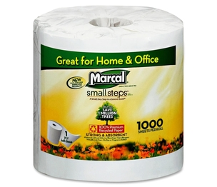 Marcal Manufacturing, LLC 04415 Bathroom Tissue, Individually Wrapped,1000 Shts/RL,40/CT,WE by Marcal