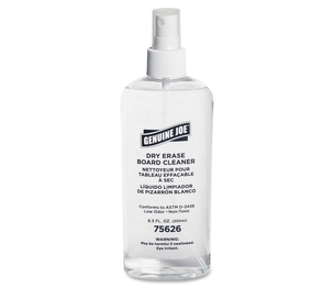 Genuine Joe 75626 Board Cleaner, Dry-Erase, Low-Odor, 8oz, Pump Spray by Genuine Joe