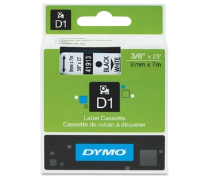 "Newell Rubbermaid, Inc 41913 DYMO D1 Electronic Tape, 3/8""x23' Size, Black/White by Dymo"
