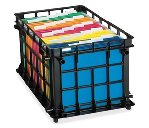 """Tops Products 27570 File Crate, Letter/Legal, 18-3/4""""x11-1/2""""x16-3/4"""", Black by Pendaflex"""