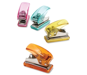 "Tops Products 20270 Single Hole Punch, Mini, 3-1/2""x3""x2"", Assorted by Baumgartens"
