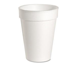Genuine Joe 58551 Foam Cups, 10 oz., 1000/CT, White by Genuine Joe