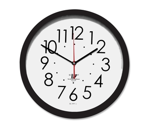 """Chicago Lighthouse Industries 67800603 Self Set Clock,Daylight Savings,14-1/2"""", BK Frame/WE Face by Chicago Lighthouse"""