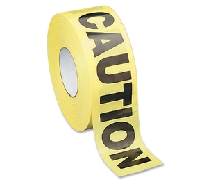 "Sparco Products 11795 Barricade Tape, ""Caution"", Non-Adhesive, 3""x1000', YW/Black by Sparco"