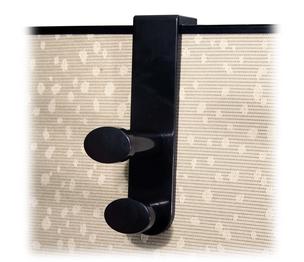"""Advantus Corporation 40802 Garment Hook, f/Panels, Double, 1-7/8""""x3-1/4""""x7-3/4"""", BK by Advantus"""