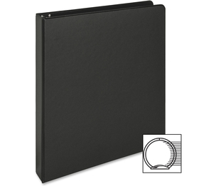 """Business Source 09976 Round Ring Binder, 1"""" Capacity, 11""""x8-1/2"""", Black by Business Source"""