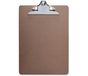 """Business Source 65637 Hardboard Clipboard, Nickel-Plated Clip, 9""""x12-1/2"""", Brown by Business Source"""