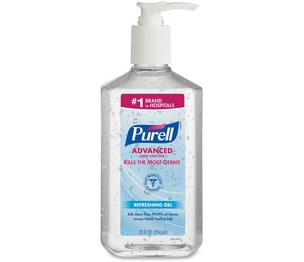 Gojo Industries, Inc 365912CT Instant Hand Sanitizer, Pump Bottle, 12 oz., 12/CT, Clear by Gojo